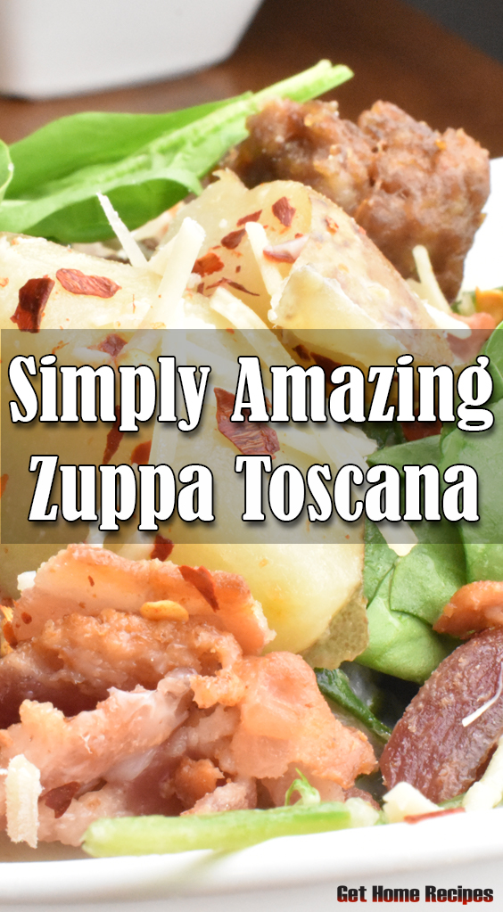 This zuppa tuscana recipe is one of out favorites. Potato, Bacon , Sausage how can you go wrong?