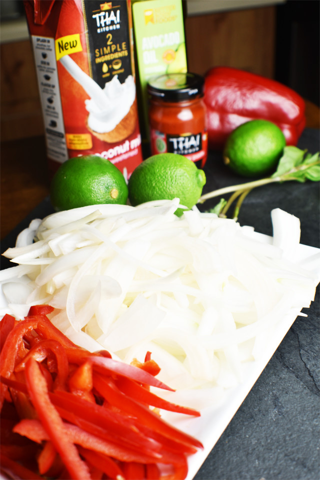 Thai Coconut Shrimp with Red Curry Ingredients